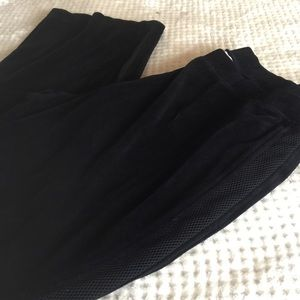 Style and co black velour pants size 1x